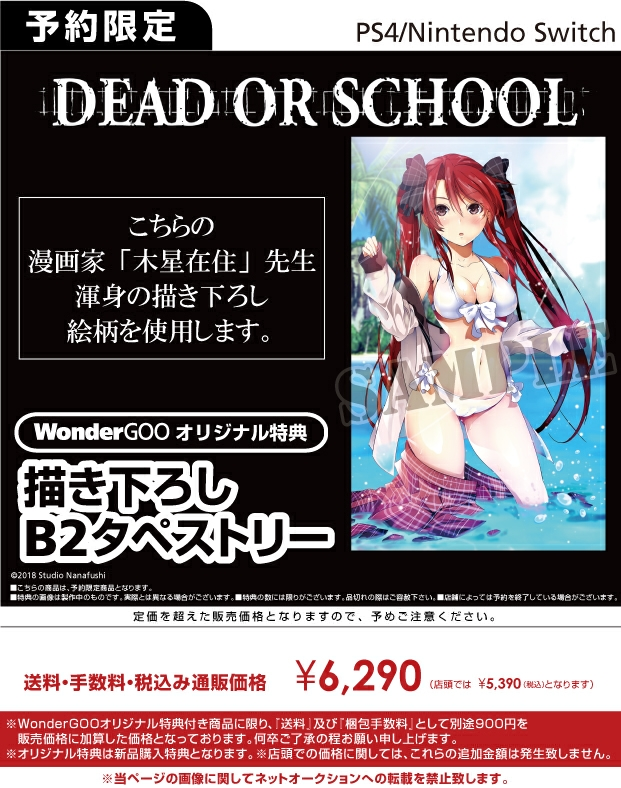 PS4/Nintendo Switch DEAD OR SCHOOL【オリ特】B2タペストリー